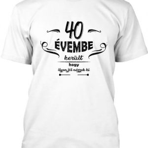 40 évembe születésnap – Férfi póló