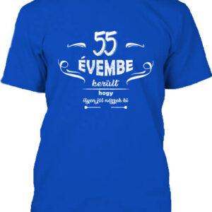 55 évembe születésnap – Férfi póló