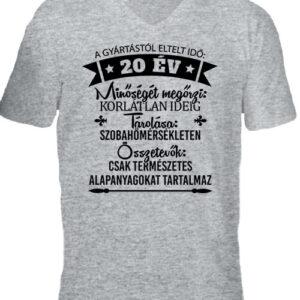 20 éves születésnap – Férfi V nyakú póló