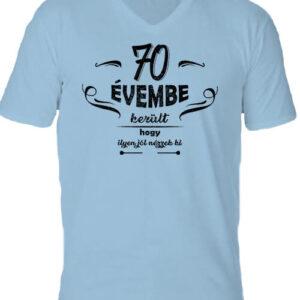 70 évembe születésnap – Férfi V nyakú póló