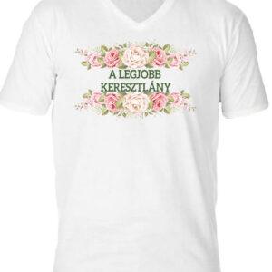 A legjobb keresztlány – Férfi V nyakú póló