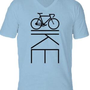 Bicikli kerékpár – Férfi V nyakú póló