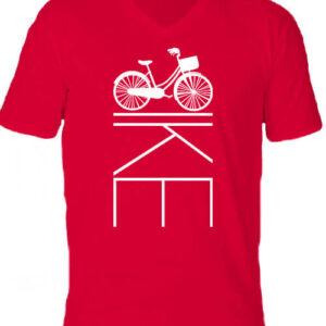 Kerékpár bringa – Férfi V nyakú póló
