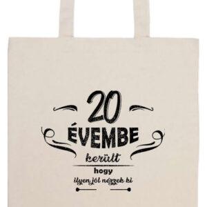 20 évembe születésnap- Prémium hosszú fülű táska