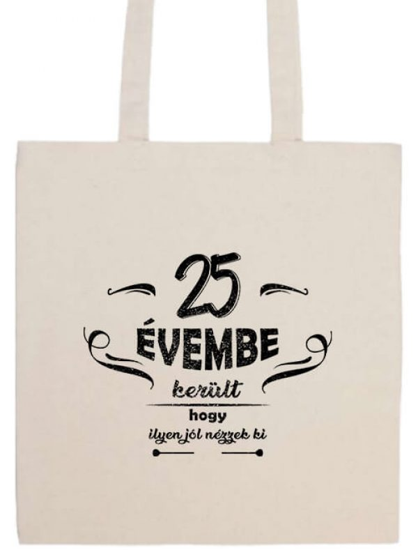 Hosszú fülű táska mánia 25 évembe születésnap fehér