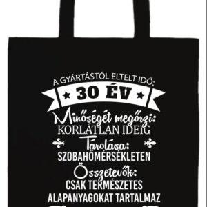 30 éves születésnap- Prémium hosszú fülű táska