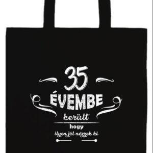 35 évembe születésnap- Basic hosszú fülű táska
