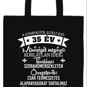 35 éves születésnap- Prémium hosszú fülű táska