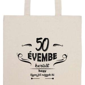 50 évembe születésnap- Prémium hosszú fülű táska