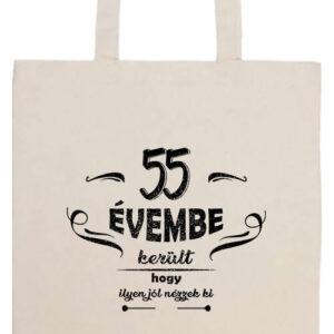 55 évembe születésnap- Prémium hosszú fülű táska