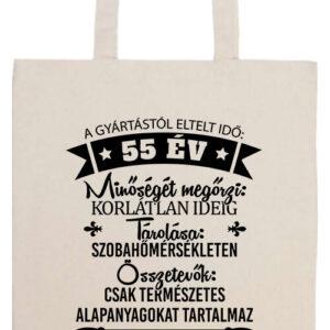 55 éves születésnap- Prémium hosszú fülű táska
