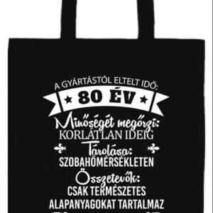 80 éves születésnap- Prémium hosszú fülű táska