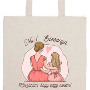 Köszönöm édesanya- Prémium hosszú fülű táska