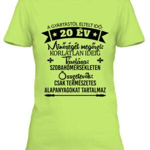 20 éves születésnap – Női póló