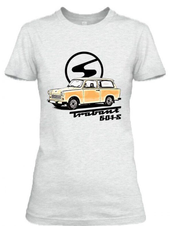 Női póló Trabant 601 hamuszürke