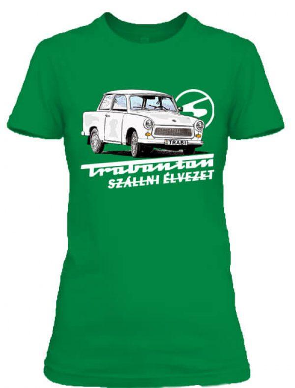 Női póló Trabanton szállni élénkzöld