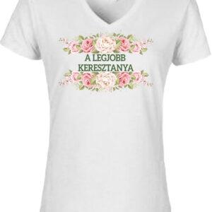 A legjobb keresztanya – Női V nyakú póló