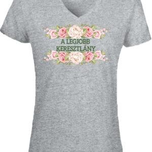 A legjobb keresztlány – Női V nyakú póló