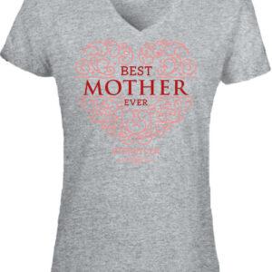 Best mother ever – Női V nyakú póló