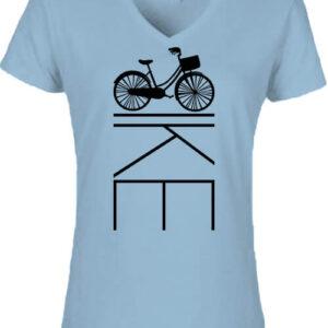 Kerékpár bringa – Női V nyakú póló