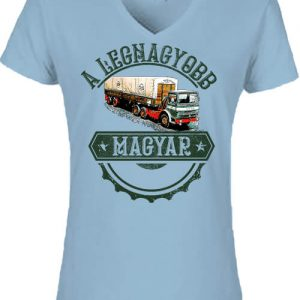 Rába kamion – Női V nyakú póló