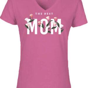 The best mom – Női V nyakú póló