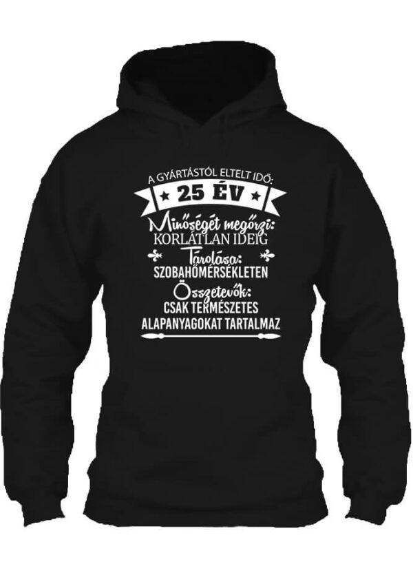 Pulóver 25 éves születésnap fekete