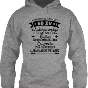 50 éves születésnap – Unisex kapucnis pulóver