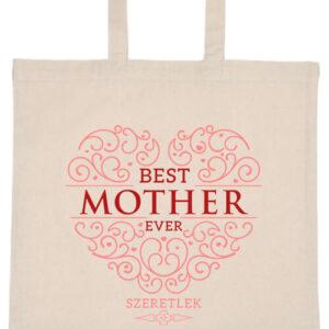Best mother ever- Basic rövid fülű táska