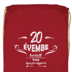 20 évembe születésnap- Prémium tornazsák