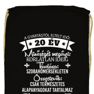 20 éves születésnap- Prémium tornazsák