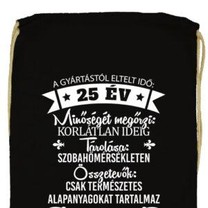 25 éves születésnap- Prémium tornazsák