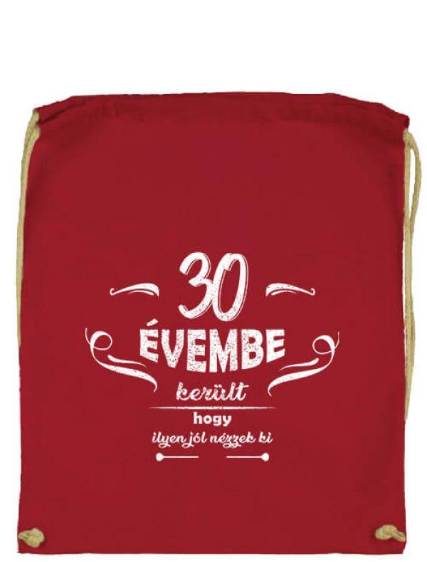 Tornazsák 30 évembe születésnap piros