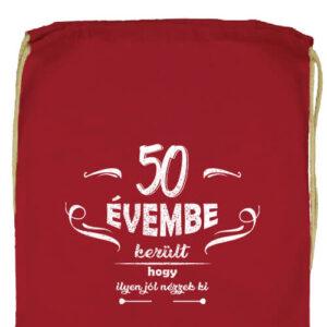 50 évembe születésnap- Prémium tornazsák