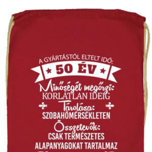 50 éves születésnap- Prémium tornazsák