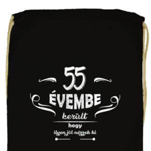 55 évembe születésnap- Basic tornazsák