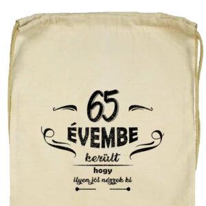 65 évembe születésnap- Basic tornazsák