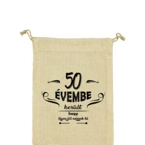 50 évembe születésnap – Vászonzacskó kicsi