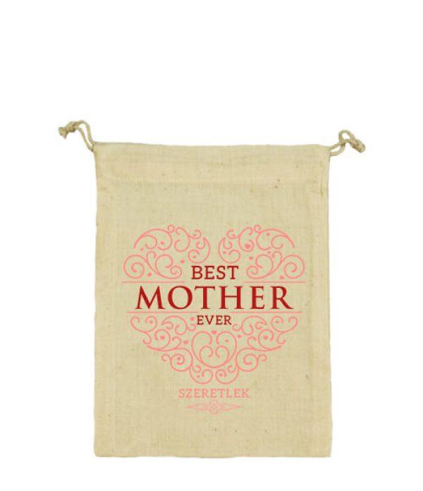 Vászonzacskó Best mother ever natur