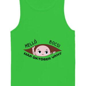Baba születés október – Férfi ujjatlan póló