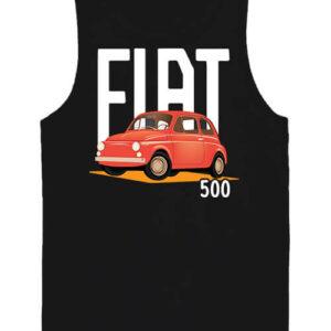 Fiat 500 – Férfi ujjatlan póló – 2XL, Fekete