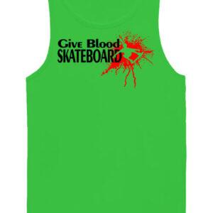 Give blood skateboard gördeszka – Férfi ujjatlan póló