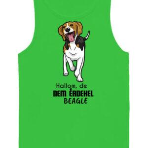 Hallom de nem érdekel beagle – Férfi ujjatlan póló
