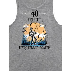 Horgász 40 felett – Férfi ujjatlan póló