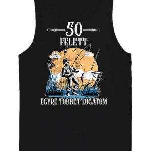 Horgász 50 felett – Férfi ujjatlan póló