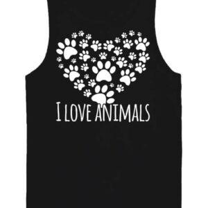 I love animals – Férfi ujjatlan póló