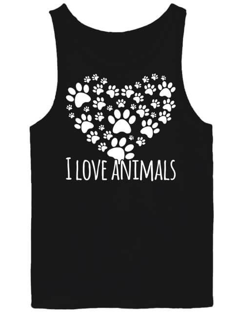 Férfi ujjatlan póló I love animals