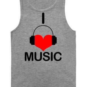 I love music – Férfi ujjatlan póló