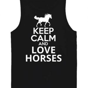 Keep calm and love horses lovas – Férfi ujjatlan póló