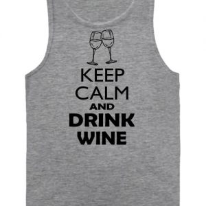 Keep calm bor – Férfi ujjatlan póló